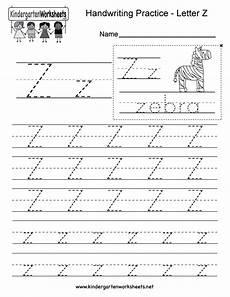 handwriting name worksheets for kindergarten 21509 letter z writing practice worksheet free kindergarten worksheet for