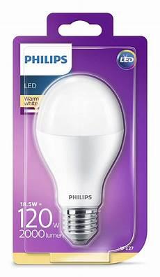 2000 lumen philips led a60 e27 le 18 5w 2700k wie 120w