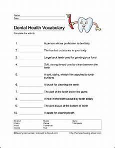 10 worksheets that will teach children the basics of dental health dental health health words