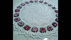 tapete redondo em croch 234 quot flor cata vento crespa quot youtube