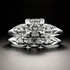 18k white gold vintage diamond wedding vintage