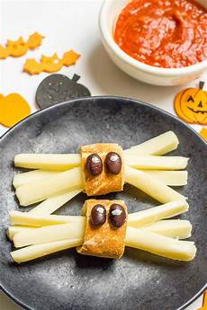 healthy halloween spider snacks family food the table