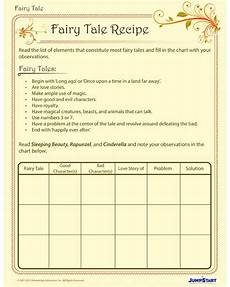 tale recipe free printable worksheet for tale writing tales