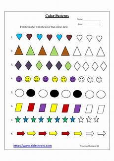 color patterns worksheets 53 kidz worksheets preschool color patterns worksheet10