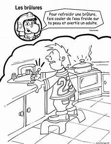 refroidir une coloriage refroidir une brulure eau froide par crocfeu