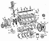 SMALL BLOCK GM MARINE ENGINE PARTS BREAKDOWN PISTONS