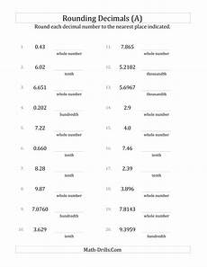 rounding various decimals to various decimal places a