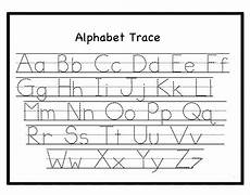 preschool trace letters free printable letter tracing work
