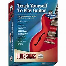 teach me how to play guitar alfred teach yourself to play guitar blues songs cd rom musician s friend