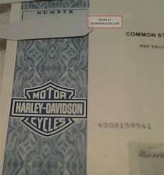 Harley Davidson Certification by Harley Davidson Sept 1994 Common Stock Certificate