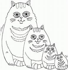 cat family coloring page coloring