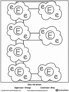lowercase letter e worksheets 24621 recognize uppercase and lowercase letter e myteachingstation