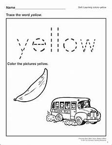 color yellow worksheets for preschool 12892 yellow preschool basic skills colors printable skills sheets