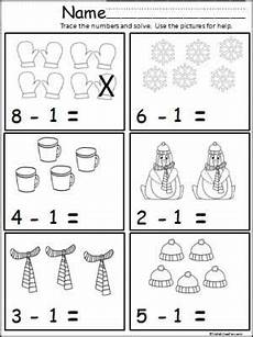 subtraction and addition worksheets for kindergarten 9991 winter math subtract one math subtraction subtraction kindergarten subtraction activities