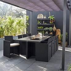 mobilier jardin leroy merlin salon de jardin encastrable r 233 sine tress 233 e noir 8