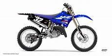 kit deco moto cross yamaha yz 125 fusion noir bleu