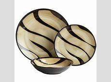 Zebra Dinnerware   From Pier 1. I love this one too! So