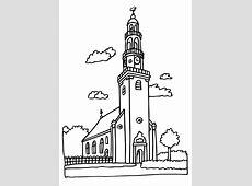 Kleurplaat kerk. Gratis kleurplaten om te printen.