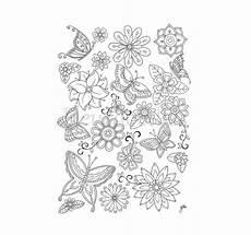 Ausmalbilder Blumen A4 Malseite Zum Ausdrucken Schmetterlinge Blumen Ausmalbilder