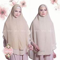 Model Jilbab Syari Bahan Ceruti Voal Motif