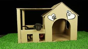 How To Make Amazing Puppy Dog House From Cardboard Easy