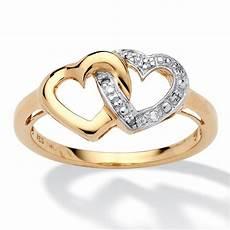 womens 18 k gold heart promise engagement wedding diamond