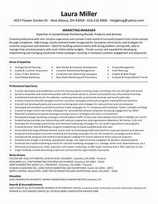 functional resume format for marketing manager