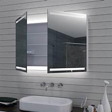 spiegelle bad spiegelschrank bad 100x70cm mit led kalt warm spiegel