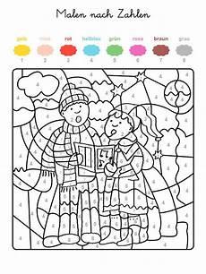 ausmalbild malen nach zahlen weihnachtss 228 nger ausmalen