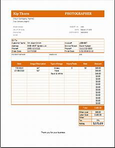 photography receipt template for excel word excel