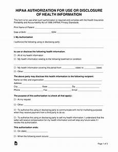 free medical records release authorization form hipaa pdf word eforms free fillable forms