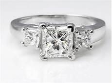 gia 1 60ct estate vintage princess diamond three stone