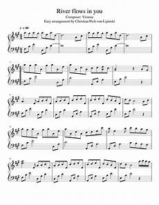 river flows in you easy arrangement sheet music for piano download free in pdf or midi