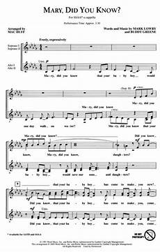 sheet music mary did you know ssaa ssaa a cappella