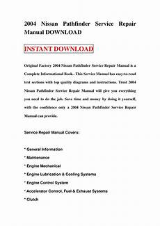 auto repair manual free download 2004 nissan pathfinder auto manual 2004 nissan pathfinder service repair manual download