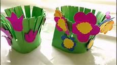 Blume Basteln Kinder - easy paper craft flower garden for paper