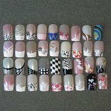 pre designed full false nails 24 pre design airbrushed