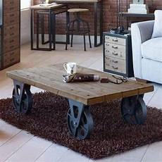 industrial coffee tables with wheels large industrial wooden iron coffee table with black