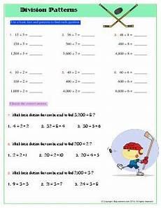 division pattern third grade math worksheets biglearners