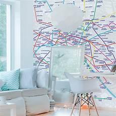 papier peint panoramique design papier peint panoramique 143181 plan de m 233 tro eclair