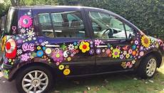 flower power car decal stickers by hippy motors vw beetle