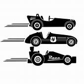 NEW DESIGN Race Cars Vintage Style Vinyl Wall Decal