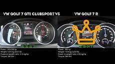 golf r 0 100 vw golf 7 gti clubsport vs vw golf 7 r 0 100 km h