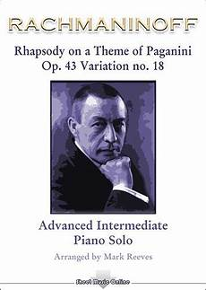 rachmaninoff rhapsody on a theme of paganini variation 18 for piano solo sheet music online