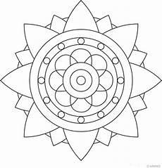 Malvorlagen Einfache Formen Easy Mandala Drawing At Getdrawings Free
