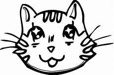 Katzengesicht Malvorlage Cat Coloring Page Wecoloringpage