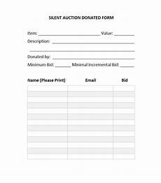 40 silent auction bid sheet templates word excel ᐅ template lab