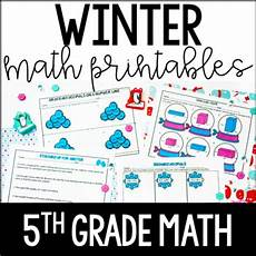 winter worksheet for 5th grade 20179 winter math 5th grade winter math worksheets by findley