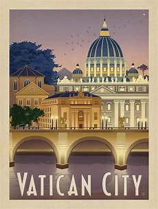vatican city vintage travel poster by the design