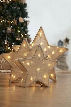 weihnachtsstern beleuchtung basteln leinenstoff